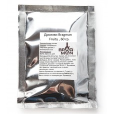 Дрожжи спиртовые Bragman Fruity, 60 грамм