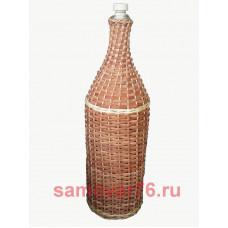 Бутылка оплетенная «Русская четверть» 3 литра