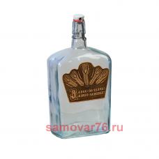 Бутылка с этикеткой из бересты 1,75 литра Викинг