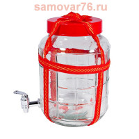 Банка 25 литров КРАН с гидрозатвором и ручками (1/2)