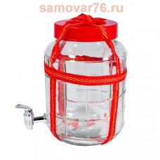 Банка 18 литров КРАН с гидрозатвором и ручками (1/4)