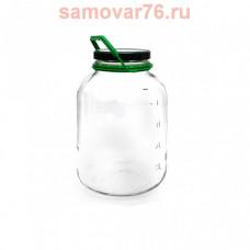 Банка 5 литров д.110 с крышкой (1/4)